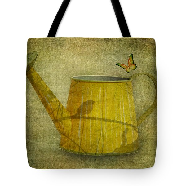 Watering Can With Texture Tote Bag by Tom Mc Nemar