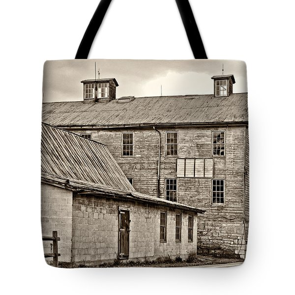 Waterside Woolen Mill Tote Bag by Steve Harrington