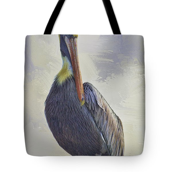 Waterway Pelican Tote Bag by Deborah Benoit
