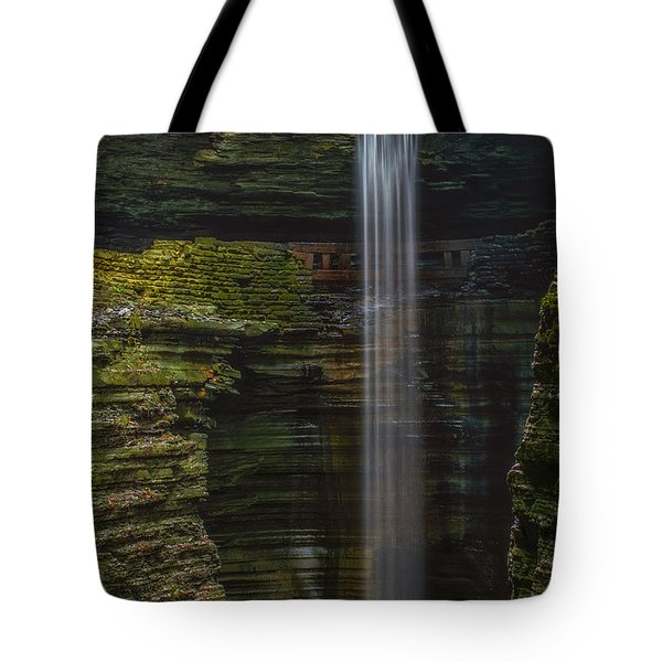 Watkins Glen Central Cascade Tote Bag by Mark Papke