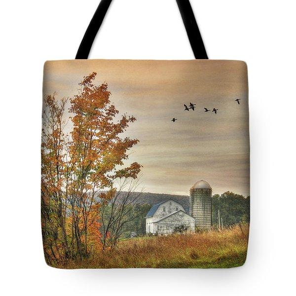 Watkins Glen Farm Tote Bag by Lori Deiter