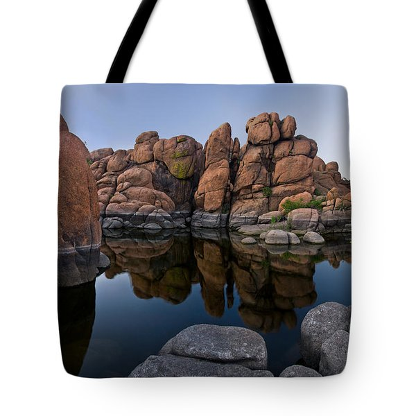 Watson Lake Arizona Reflections Tote Bag by Dave Dilli