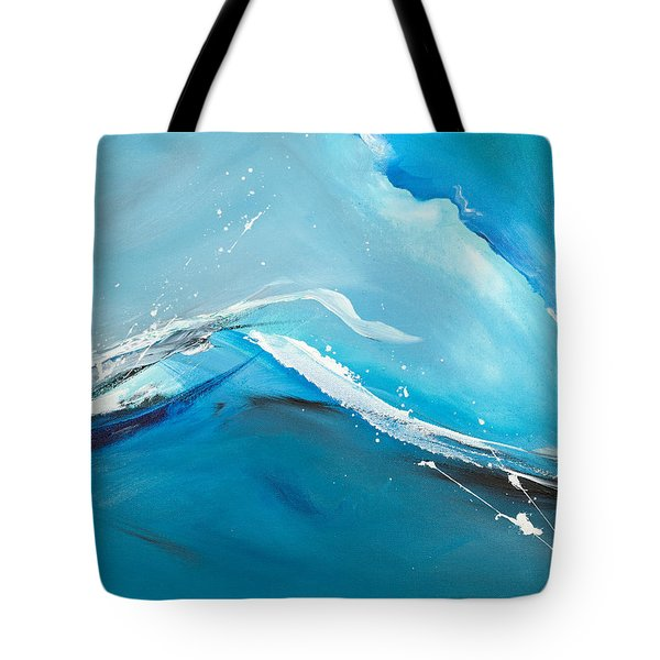 Wave Action Tote Bag by Michelle Wiarda