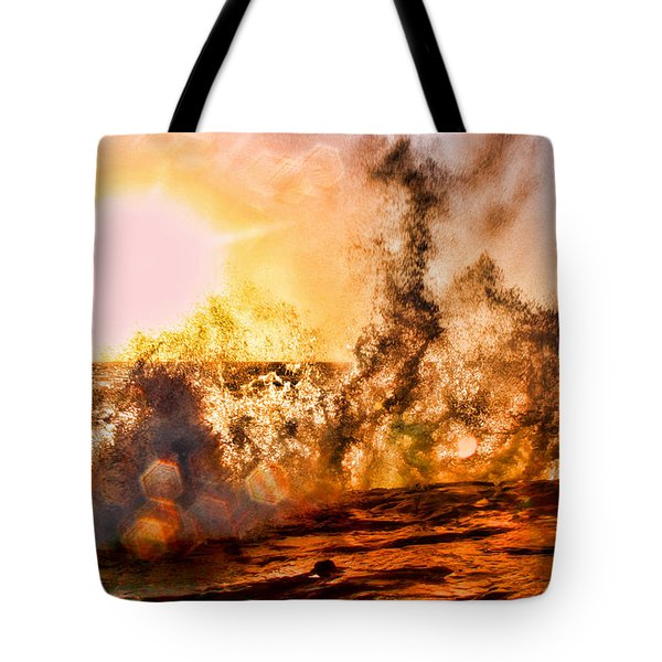 Wave Crasher La Jolla By Diana Sainz Tote Bag by Diana Sainz