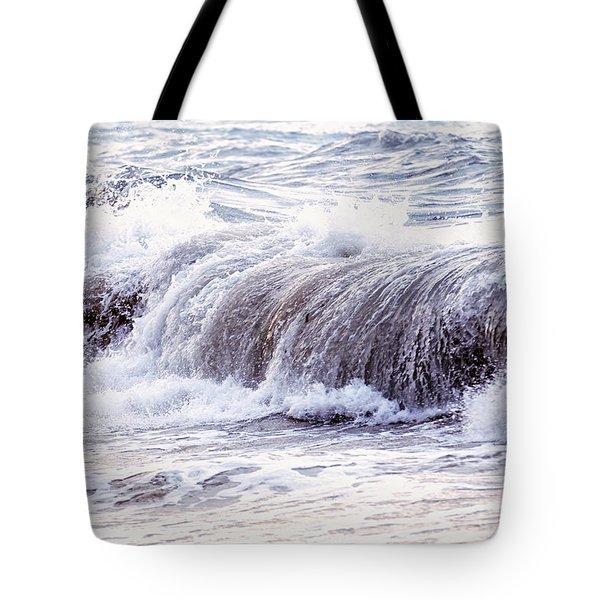 Wave In Stormy Ocean Tote Bag by Elena Elisseeva
