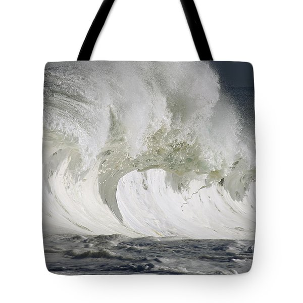 Wave Whitewash Tote Bag by Vince Cavataio