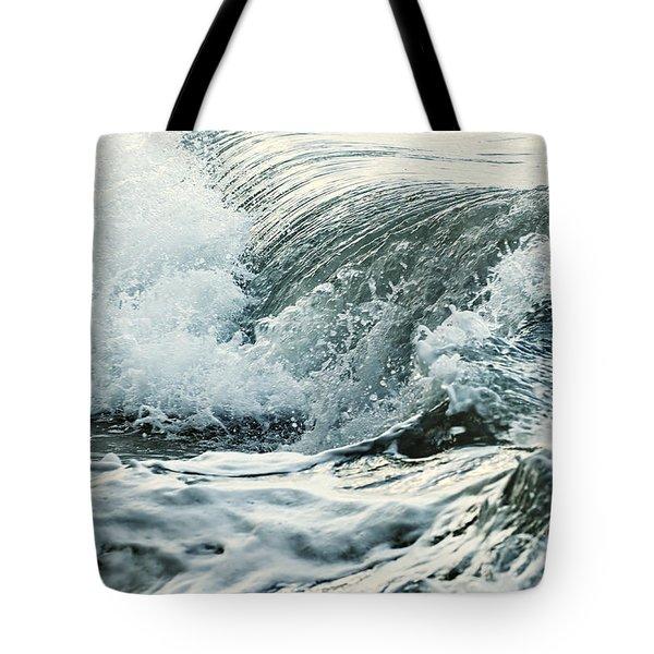 Waves In Stormy Ocean Tote Bag by Elena Elisseeva
