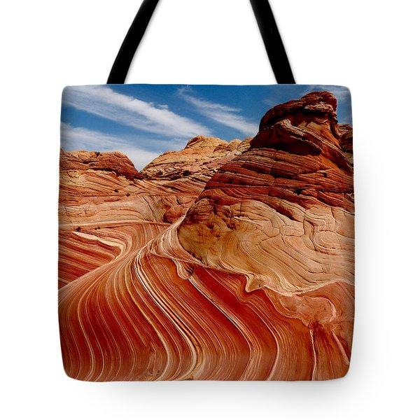 Waves Of Time Tote Bag by Alan Socolik