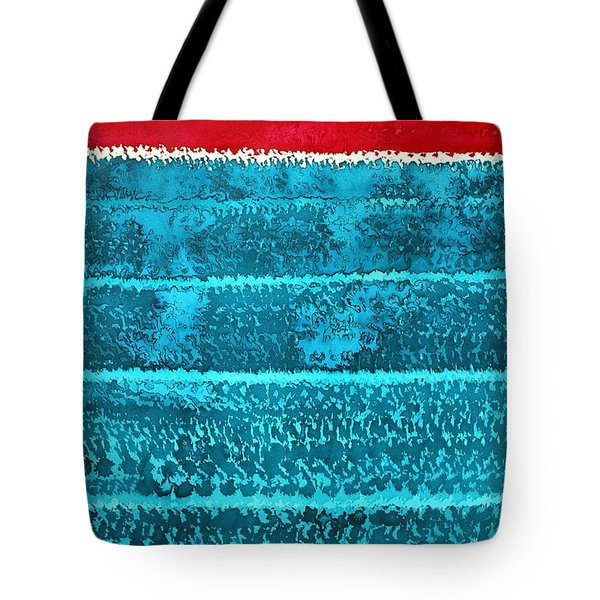 Waves Original Painting Tote Bag by Sol Luckman