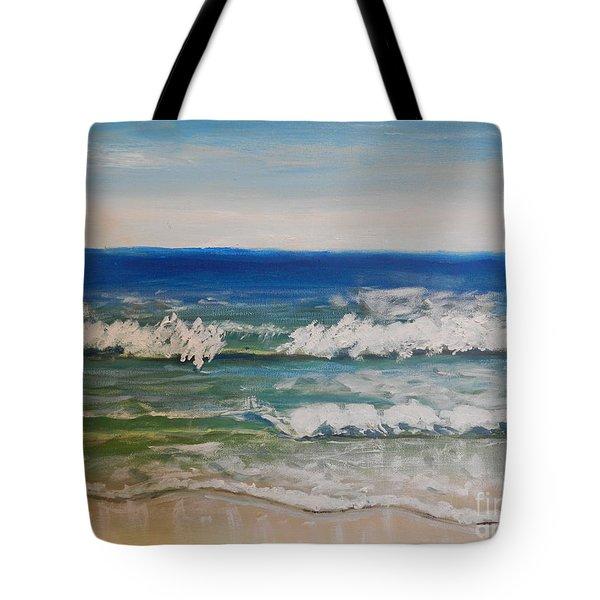 Waves Tote Bag by Pamela  Meredith