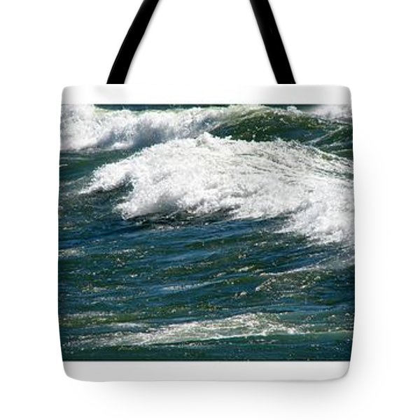 Waves Triptych Ll Tote Bag by Michelle Calkins