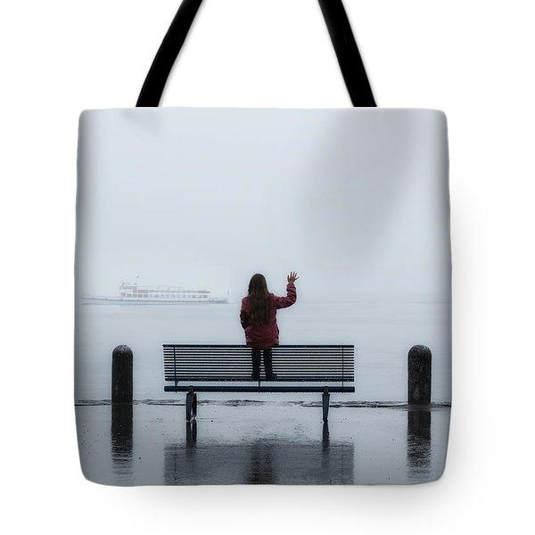 Waving Goodbye Tote Bag by Joana Kruse