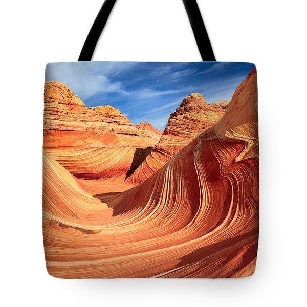 Wavy Bowl Tote Bag by Inge Johnsson