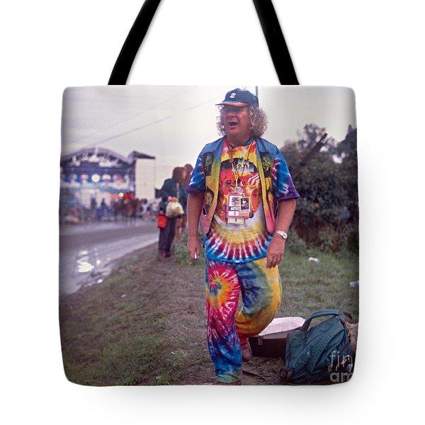 Wavy Gravy At Woodstock Tote Bag by Chuck Spang