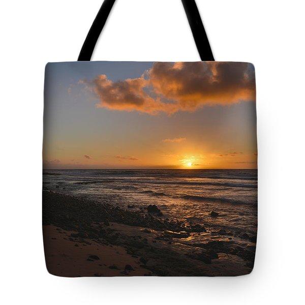 Wawamalu Beach Sunrise - Oahu Hawaii Tote Bag by Brian Harig