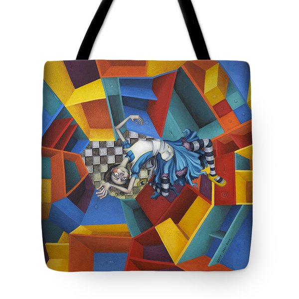 Way Down In The Hole Tote Bag by Kelly Jade King