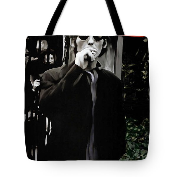 Way Out  George Harrison Tote Bag by Iconic Images Art Gallery David Pucciarelli