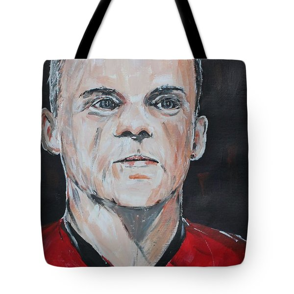 Wayne Rooney Tote Bag by John Halliday