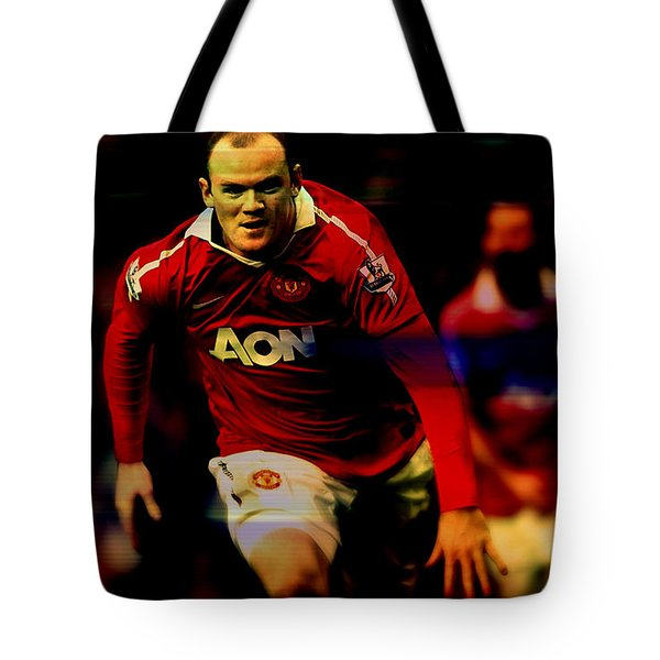 Wayne Rooney Tote Bag by Marvin Blaine