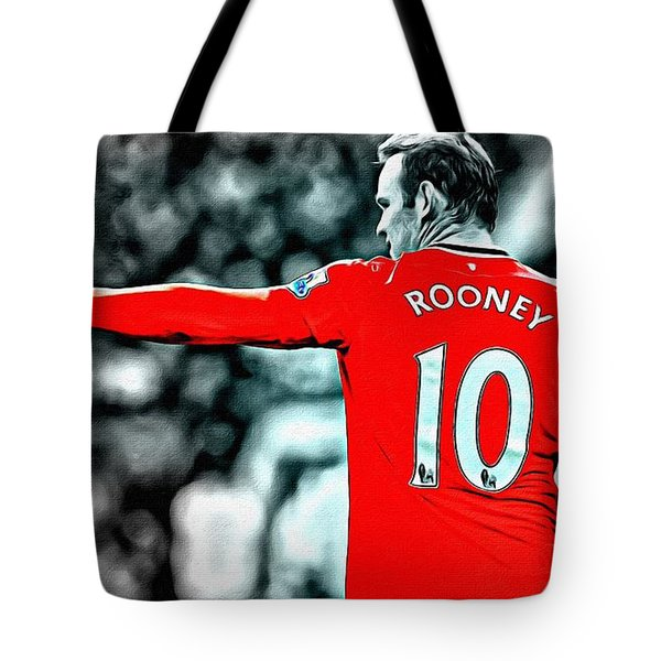 Wayne Rooney Poster Art Tote Bag by Florian Rodarte