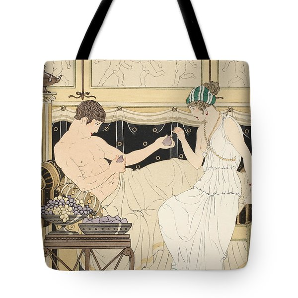We Gorged With Grapes And Figs Least Tote Bag by Joseph Kuhn-Regnier