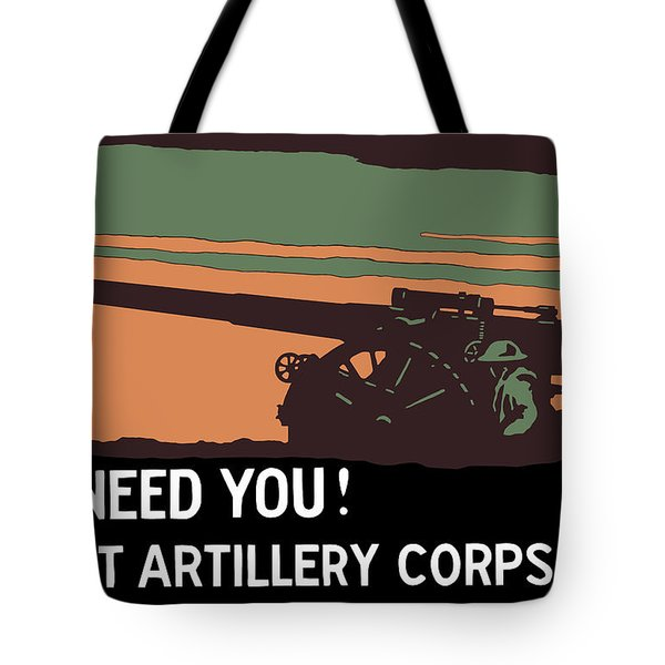 We Need You Coast Artillery Corps USA Tote Bag by War Is Hell Store
