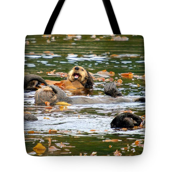 We Otter Be In Pictures Tote Bag by Bob Hislop