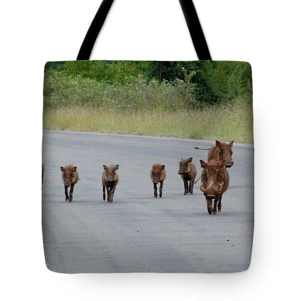 We Own The Road Tote Bag by Ramona Johnston