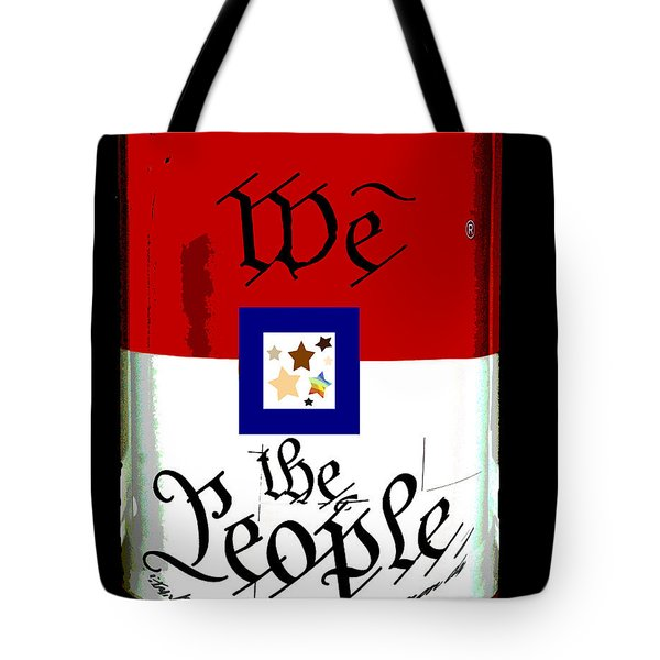 We The People Pop Art Print Tote Bag by AdSpice Studios