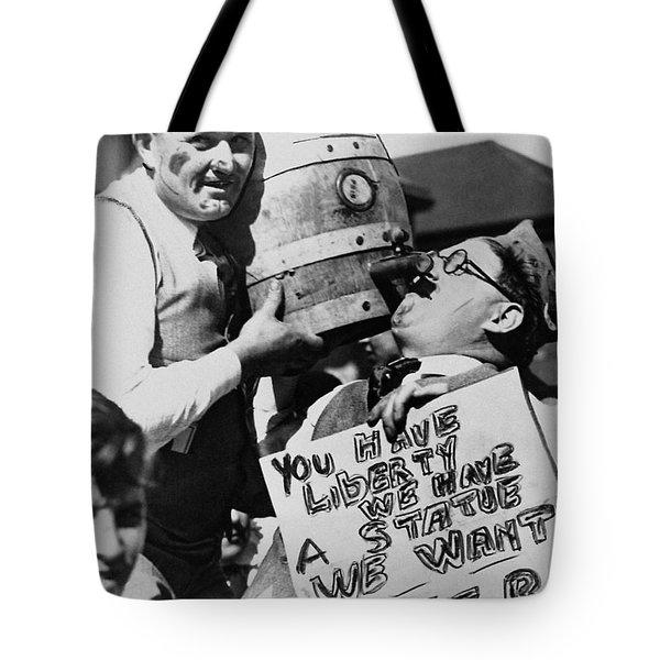 We Want The Beer Tote Bag by Jon Neidert