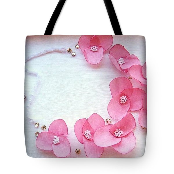 Wearable Art . One Of A Kind Statement Necklace Tote Bag by Marianna Mills