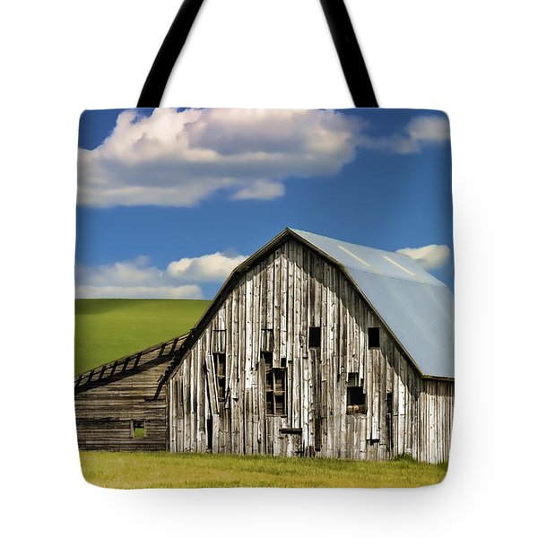 Weathered Barn Palouse Tote Bag by Carol Leigh