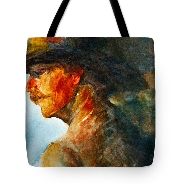 Weathered Cowboy Tote Bag by Jani Freimann