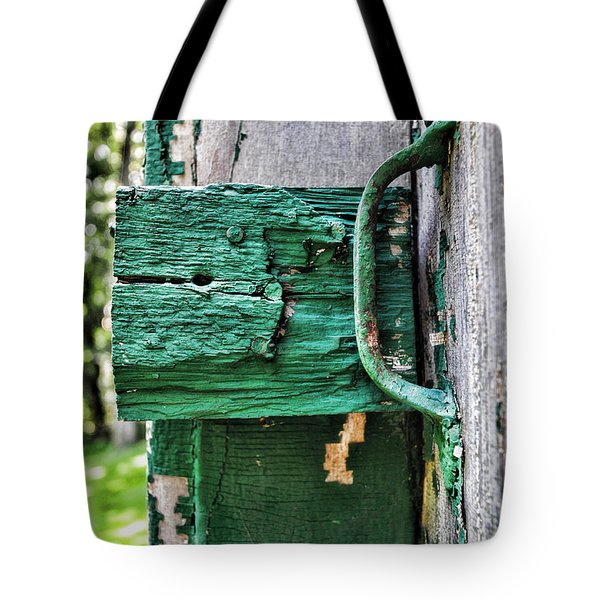 Weathered Green Paint Tote Bag by Paul Ward