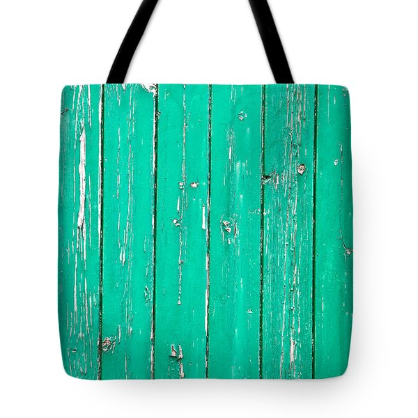 Weathered Green Wood Tote Bag by Tom Gowanlock