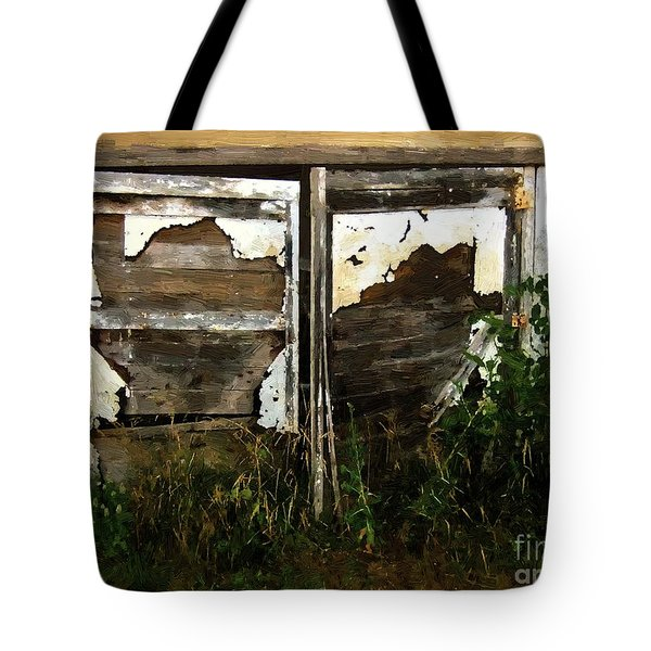 Weathered In Weeds Tote Bag by RC DeWinter