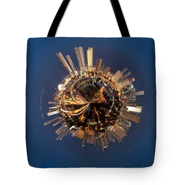 Wee Miami Planet Tote Bag by Nikki Marie Smith