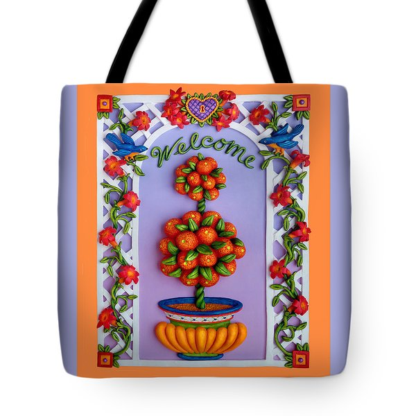 Welcome Tote Bag by Amy Vangsgard
