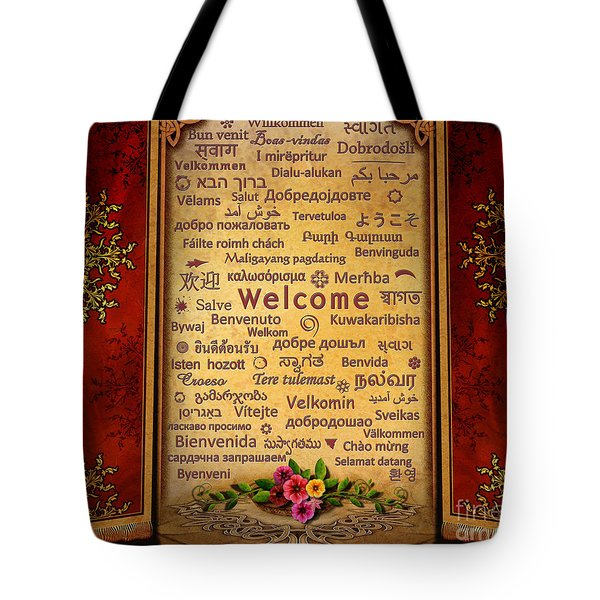 Welcome Tote Bag by Bedros Awak