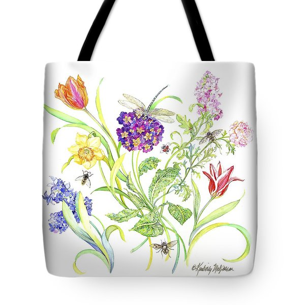 Welcome Spring I Tote Bag by Kimberly McSparran
