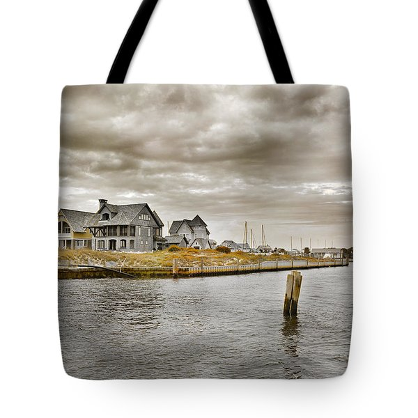 Welcome To Bald Head Island Tote Bag by Betsy A  Cutler