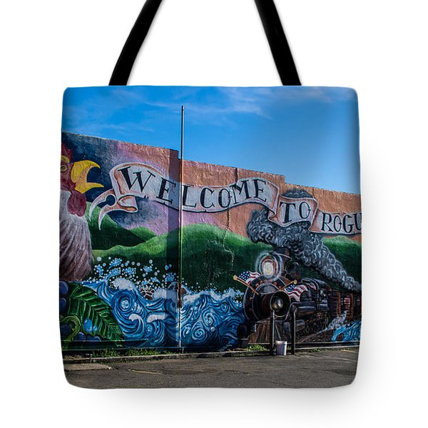 Welcome To Rogue River Oregon Tote Bag by Mick Anderson