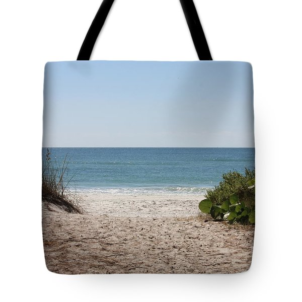 Welcome To The Beach Tote Bag by Carol Groenen