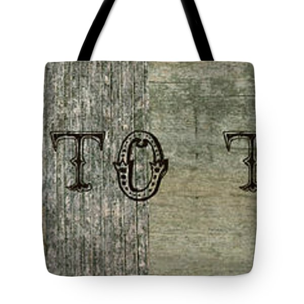 Welcome To The Cabin Tote Bag by Michelle Calkins