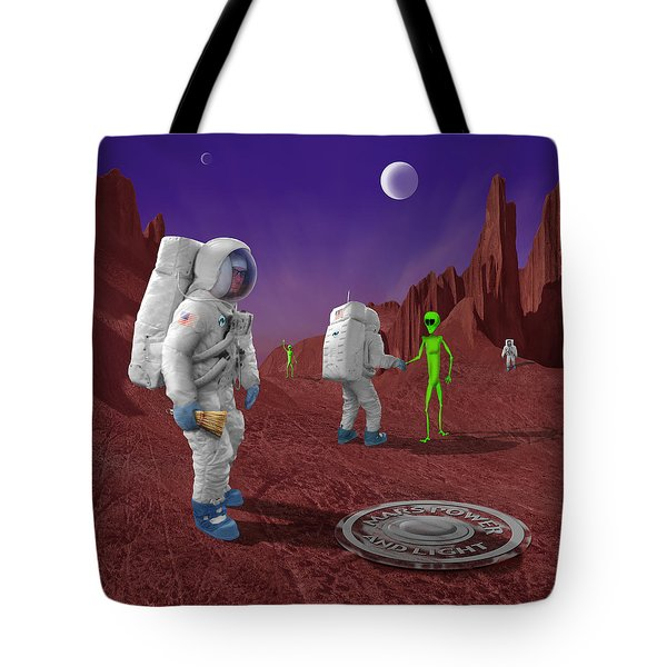 Welcome To The Future Tote Bag by Mike McGlothlen