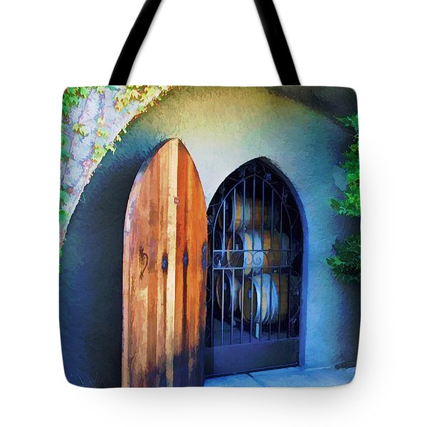 Welcome to the Winery Tote Bag by Elaine Plesser