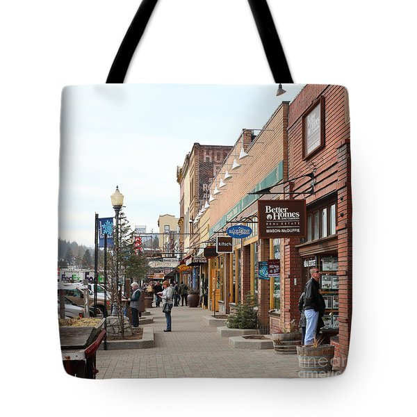 Welcome To Truckee California 5D27445 square Tote Bag by Wingsdomain Art and Photography