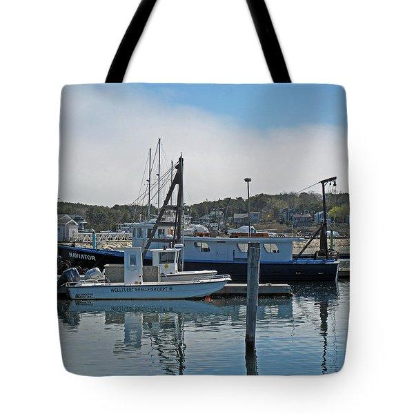 Wellfleet Shellfish Dept Tote Bag by Barbara McDevitt