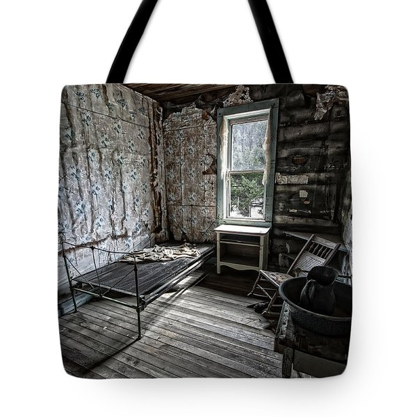 Wells Hotel Room 2 - Garnet Ghost Town - Montana Tote Bag by Daniel Hagerman