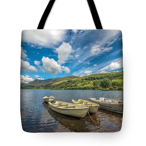 Welsh Boats Tote Bag by Adrian Evans